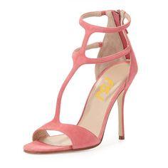 #FSJshoes - #FSJ Shoes Chloe Pink T-Strap Sandals - AdoreWe.com