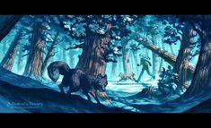 Blue Forest by MinnaSundberg on deviantART