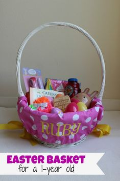 Awe this precious little valentines basket was for a 1 year old easter basket for one year old ideas that arent useless andor candy negle Images