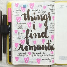 What things do you find romantic? IG:@pepperandtwine
