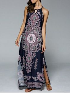 GET $50 NOW   Join RoseGal: Get YOUR $50 NOW!http://m.rosegal.com/maxi-dresses/bohemian-side-slit-tribal-maxi-700706.html?seid=6763477rg700706