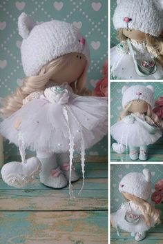 Fabric doll Handmade doll Rag doll Puppen by AnnKirillartPlace