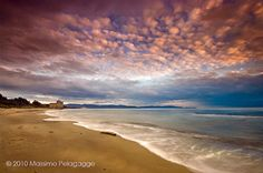 Beach sunset photos from Maremma Italy