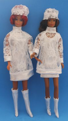 Japan Silver and Lace reproductions for Barbie and Francie Barbie Outfits, Barbie Clothes, Barbie Dolls, Barbie And Ken, Twiggy, Vintage Barbie, Life Is Beautiful, Friends Family, Diorama