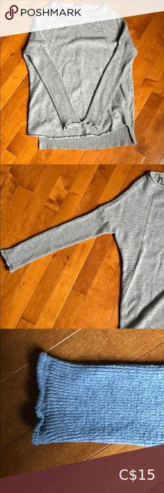 Grey Sweater Size Small Light grey sweater, size small. Nice design with fitted dolman sleeves. Slightly longer in the back. Gently worn condition. Purchased at Envy. Sweaters Crew & Scoop Necks Cozy Sweaters, Sweaters For Women, Grey Sweater, Envy, Cool Designs, Gray Color, Scoop Neck, Nice, Sleeves