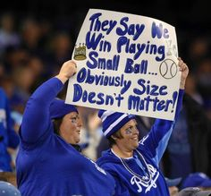 Royals fans expressed their sarcastic message via a sign at Tuesday's ALCS playoff baseball game on October 14, 2014 at Kauffman Stadium in Kansas City, MO.