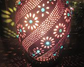 Hand-crafted Gourd Lights by Tami; unique and customizable hanging or table lamps! Great for gift giving (wedding, anniversary, birthday)!