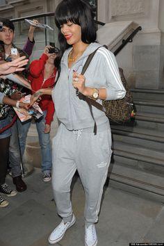Rihanna's street style. Look good. Feel good.