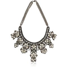 DEEPA GURNANI Mergers And Acquisitions Necklace ($486) ❤ liked on Polyvore featuring jewelry, necklaces, accessories, gunmetal, deepa gurnani, vintage jewelry, vintage jewellery, deepa gurnani necklace and swarovski crystal necklace