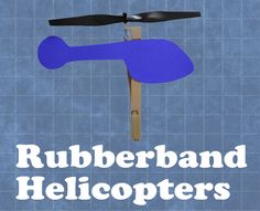 If you enjoy this project, then I encourage you to buy my book, Rubber Band Engineer. You can find it wherever books are sold.The rubberband-powered helicopter is easy to construct, and with a little practice it can be flown 20+ feet into the air! How It Works: 1. Energy is stored in the sport rubber by winding the propeller. 2. When flown, the rubberband rapidly releases its energy by unwinding, which turns both the propeller blade and the paper cutout. 3. The paper cutout pushes against…