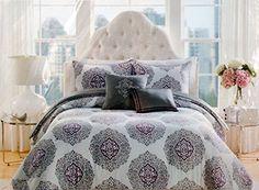 Raymond Waites 3 Pc King Mini Duvet Cover Set Jezek 100 Cotton Sa Gray