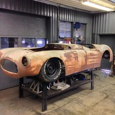 I have a pile of steel welder saw and locking the door. I need to work on the CBS to clear my head. #speedster#fast#bagged#low#fiberglass#1950's#corvette#corba#jaguar#vintage#style#handmade#different by _craftyb_