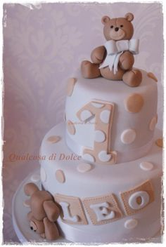 teddy cake for Leo