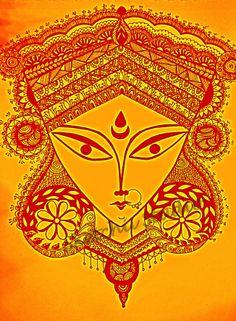 Durga Maa Art Indian Goddess https://www.facebook.com/SketchiiStudio