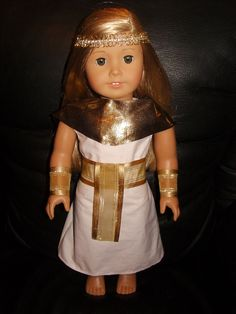 For American Girl Doll Clothes Cleopatra Egyptian Queen Dress Halloween Costume  #Handmade