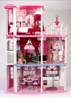 One-of-a-kind Custom Jonathan Adler Barbie® Dream House...would be so cool to own this.