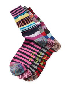 Magnificent Stripe Socks, 3-Pack