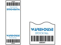 Cable wrap barcode label (full design), 75mm x 25mm