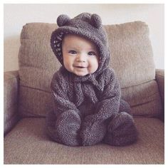 Adorable Bear Design Hooded Fleece Coat for Baby – cute.patpaty