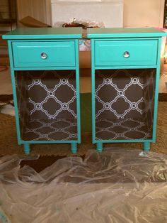 My finished bedside tables!