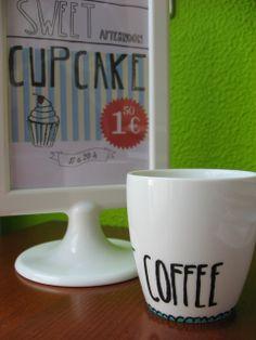 "taza pintada a mano ""Sweet Coffee"""