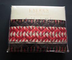 Ralph Lauren Heritage Batik Geometric Standard Pillow Sham $130 Quilted NEW  #RalphLauren #HeritageBatik