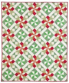 Christmas Cactus quilt pattern by Leanna Spanner