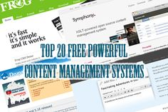 20 Free Powerful Content Management Systems(CMS) Part 1  By Dipankar