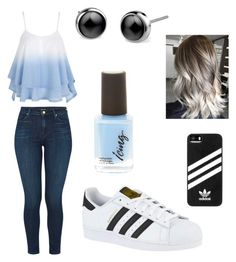 """""""Blue"""" by veronicasahowell on Polyvore featuring J Brand and adidas"""