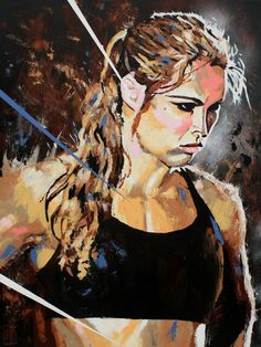 """robschamberger: """" Ronda Rousey Acrylic and spray on x canvas Changing how women athletes are viewed one ass-kicking at a time. Ronda Rousey Mma, Rhonda Rousy, Ronda Rousey Wallpaper, Rowdy Ronda, Ufc Women, Female Athletes, Women Athletes, Wwe Divas, Muay Thai"""