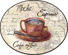 AMARNA ARTESANATO E IMAGENS: DECOUPAGE - CAFÉ