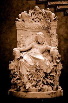 "templeofapelles: "" Ludwig Sussmann Hellborn (German sculptor, painter, 1828-1908) Sleeping Beauty, 1878 """