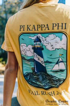 Painless Custom Fraternity and Sorority Apparel Pi Kappa Phi, Theta Chi, Fraternity Rush Shirts, We Wear, How To Wear, Outdoor Wear, Custom Clothes, Cool T Shirts, Empire