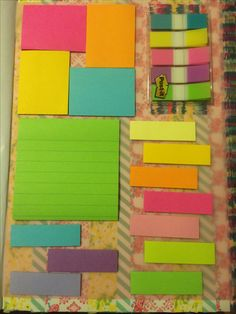Made my own dashboard for my planner! Used: 1 vellum sheet, washi tape, and lots of post it notes!