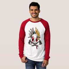 Pirates Canvas Long Sleeve Raglan T-Shirt