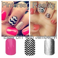 Love some of the cute Pinterest nail ideas but can't translate them on to your nails? Try Jamberry!!! Easier, faster, and NO dry time! http://aimeehowell.jamberrynails.net/