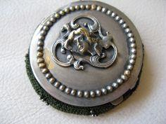 Antique Victorian Art Nouveau Woman Steel Bead Green Tam O Shanter Purse 1903…