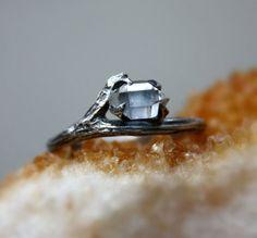 herkimer-diamond-gemstone-ringraw
