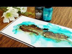 Alcohol Inks & Foil Highlights - YouTube