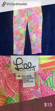 Lilly Pulitzer Pants size 4 Size 4 Lilly Pulitzer Pants Straight Leg