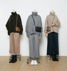 Sweater with a high collar, comfortable trousers. Sweater with a high collar, comfortable trousers. Hijab Fashion Casual, Street Hijab Fashion, Casual Hijab Outfit, Muslim Fashion, Modest Fashion, Korean Fashion, Casual Outfits, Fashion Outfits, Dress Casual