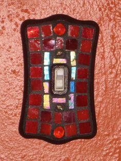 Gorgeous Red Mosaic Light Switch Plate by StarStruckMosaics, $8.00