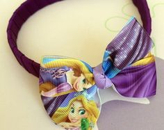 Tiara Roxa com Laço Rapunzel