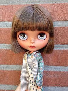 Blythe Custom Heather Sky ooak art doll Calli