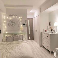 Home Interior Design .Home Interior Design Room Design Bedroom, Home Room Design, Small Room Bedroom, Bedroom Decor, Small Rooms, Narrow Bedroom Ideas, Bedroom Lamps, Wall Lamps, Bedroom Lighting