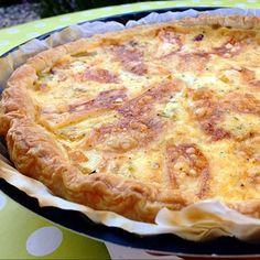 Tarte à l'oignon, reblochon et romarin/cumin fait maison par Mado.Humm avec une petite salade de mesclun! Divine! Ingrédients: Une pate feuilleté 3 oignons 1/2 reblochon 100g de crème fraiche 100ml de lait 2 oeufs 1c a c de romarin 1c a c de cumin 4 c a s d'huile d'olive Sel/poivre Recette: Prechauffez le four a 210 Emincez les oignons et les faire revenir jusqu'a ce qu'ils soient bien dorés. Disposez la pâte ds un moule, piquez la pate et disposez les oignons et les morceaux de reblochon…