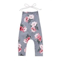 Cotrio Baby Girls Clothes Toddler Kids Floral Top with Ripped Jeans Denim Pants Casual Outfits for Birthday Party