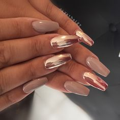 Chrome nails pink Products needed: base color, chrome powder, curing top coat