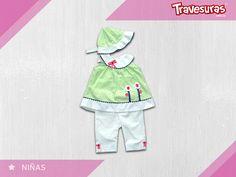 Colores claros y un diseño muy fresco para tu pequeña. http://travesuras.com.co/producto/conjunto-capri-nina/
