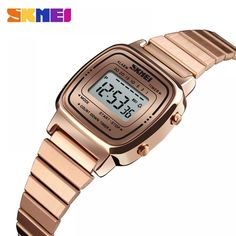 SKMEI Women Sport Watches Gold Ladies Casual Wristwatch LED Electronic Digital Watch 5ATM Waterproof Watches Relogio Feminino Price: 33.58 & FREE Shipping #staysafe #practicesafetyguidlines #fashion|#sport|#tech|#lifestyle Mother Daughter Bracelets, Daughter Necklace, Sport Watches, Cool Watches, Watches For Men, Women's Watches, Jewelry Making Beads, Watch Brands, Digital Watch